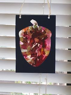 acorn stain glass craft