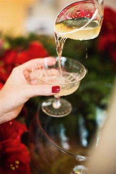 A lovely punch with sophisticated flavors and served in an elegant crystal punch-bowl is an entertaining staple for me. It's great for guests who want something stronger than wine but don't want a highball.