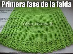 Preciosa falda color verde