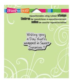 """Stampendous Cling Rubber Stamp 3.5""""X4"""" Sheet-Sweet Surprises"""