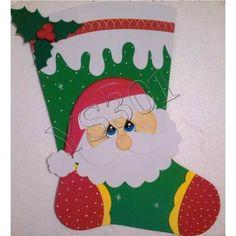 Figuras En Foami, Para Navidad - Bs. 100,00 en Mercado Libre Christmas Door, Christmas Stockings, Christmas Crafts, Christmas Decorations, Christmas Ornaments, Holiday Decor, Diy And Crafts, Arts And Crafts, Paper Crafts