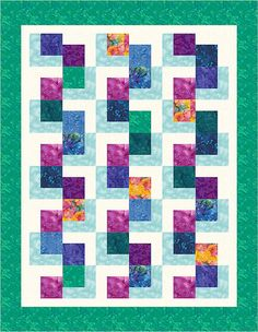 """This computer-illustrated L-Block quilt was completed on Electric Quilt software. I haven't made this arrangement into an actual quilt yet.   This is an """"original"""" arrangement, meaning I came up with it without seeing anyone else's similar design, but it is so simple that I'm sure hundreds of others have come up with a similar design.  Feel free to copy this one.  Here are some other L-block arrangements, some actual quilt tops, others just computer illustrations…"""