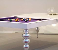 The MBM Biliardi Dining Table is Covertible for Gaming Gourmands #homedecor trendhunter.com