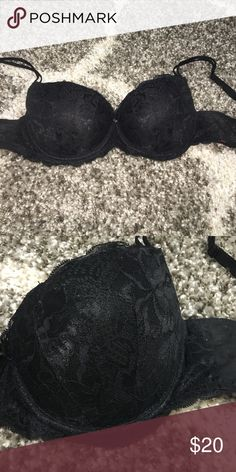 Beautiful black lace push-up bra Beautiful lace push-up bra! Size 34D! Available in white too! Victoria's Secret Intimates & Sleepwear Bras
