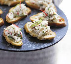 Crab, lime & chilli toasts recipe - Recipes - BBC Good Food