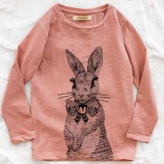 soft gallery rabbit tee - this is a children's shirt.but I want it in adult sizes. Little Doll, My Little Girl, Kids Outfits, Cute Outfits, Kid Styles, Baby Love, Cute Kids, To My Daughter, Kids Fashion