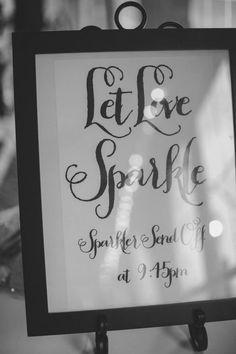 Wedding DIY - Sparkler Send Off Sign.