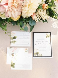 A Beautifully Floral California Wedding from Ashley Kelemen Photography - wedding invitation
