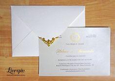 Convite Clássico Ouro - Livrepix Convites e Papelaria Personalizada