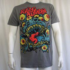 Authentic-ASKING-ALEXANDRIA-Eyeball-Monster-Slim-Fit-T-Shirt-S-M-L-XL-2XL-NEW