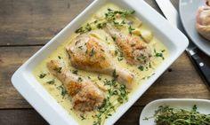 Курица вгорчичном соусе сгрибами. Отличный рецепт для тех, укого нет времени готовить