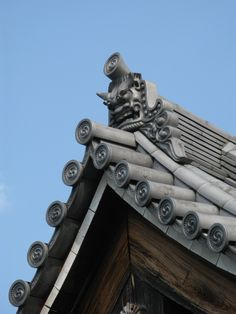 相国寺 - Temple Soukoku ji - 'Onigawara' - for protection from bad luck. S)