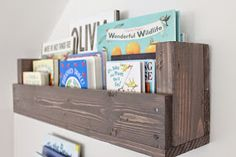 We were able to start and finish another DIY project for the baby& nursery this past week. Since I& been wanting to hang some bookshel. Boys Nautical Bedroom, Coastal Nursery, Nursery Nook, Project Nursery, Nursery Ideas, Big Girl Rooms, Baby Boy Rooms, Scrap Wood Projects, Diy Projects