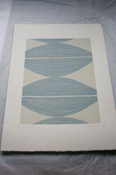 'Four Seeds' abstract screenprint Original handmade by Emma from littleprintpress