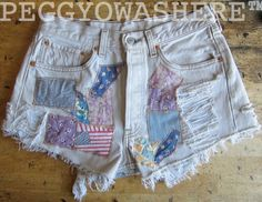 Vtg 1980's Levi's 501 patched 30's cotton desert by PEGGYOWASHERE