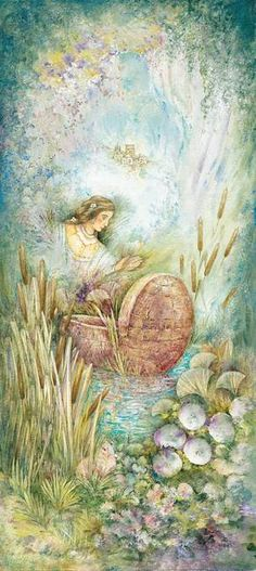 Miriam in the Bulrushes by Michoel Muchnik