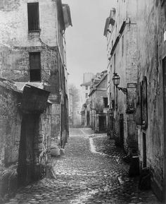 Rue Traversine, from rue d'Arras, Paris by Marville Charles