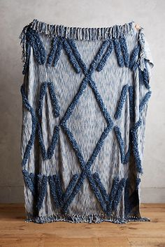 This blue Anthropologie Aldalora Throw Blanket is to die for— inspiration for new bedroom updates diy #anthropologie #bedroomdecor #affiliate #throwblanket