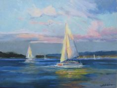 Famous Boat Paintings | Famous Sailboat Paintings weekend sailing by sandy