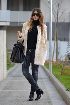 WEARING ZARA FAUX FUR COAT