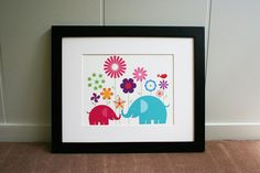 elephants playing in the flowers