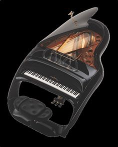 Schimmel Pegasus Piano. The extraordinarily futuristic yet laconic design breaks all the molds of the traditional grand piano design and re-imagines it as a blazing chariot of which the pianist is a Pegasus taking us, the spectators along for the ride of our lifetime.