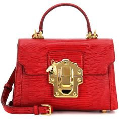 Dolce & Gabbana Lucia Mini Leather Crossbody Bag ($2,720) ❤ liked on Polyvore featuring bags, handbags, shoulder bags, сумки, red, leather purses, cross-body handbag, crossbody purses, red shoulder bag and leather shoulder handbags