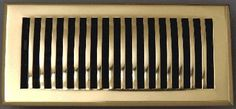 Atlanta Supply  Contemporary Floor Registers Polished Solid Brass with Damper