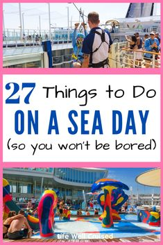 27 Things to do on a sea day while on a cruise, that are both fun and interesting for different types of cruisers. There's a reason that sea days on a cruise are some of the best days on a cruise. Cruise Packing Tips, Cruise Travel, Cruise Vacation, Vacations, Cruise Excursions, Cruise Destinations, Cruise Port, Cruise Ship Reviews, Best Cruise Ships