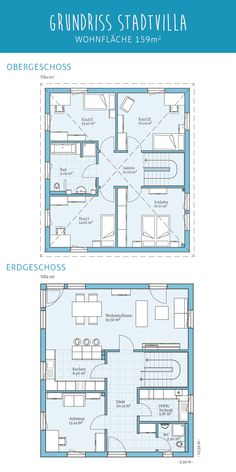 House Layout Plans, House Plans, The Plan, How To Plan, Villa Plan, Sims House Design, Prefabricated Houses, Minimalist Home, Modern Architecture