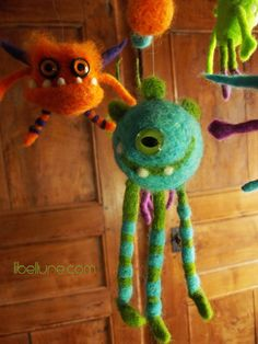 Felted monsters by Libellune.com