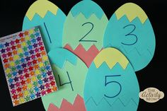 Easter Egg Counting Sticker Activity