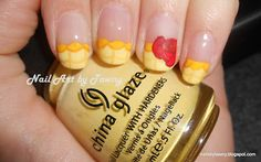 Nail Art by Tawny  Princess Series: Belle