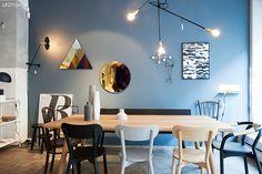 Jotun+Frama=St. Pauls Blue #kollektedby St Pauls Blue, Jotun Lady, House Wall, Modern Kitchen Design, Wall Colors, Decoration, Interior Inspiration, Sweet Home, Living Room