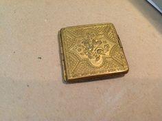 Rare  ALEXANDRA Antique Needlecase Victorian In Brass