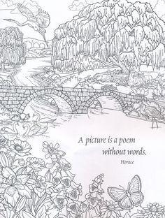 Nature Coloring Book for Adults --> If you're in the market for the best coloring books and supplies including watercolors, colored pencils, gel pens and drawing markers, logon to http://ColoringToolkit.com. Color... Relax... Chill.