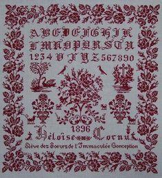 Héloïse Cornu 1898 - Version Rouge - Reflets de Soie