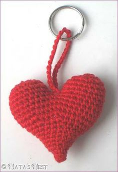 Natas Nest: Herz Häkelliebe / Heart Crochet Love - Free Pattern