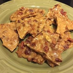 Microwave Bacon Brittle | Set the timer early, as you really want to check this as it cooks.
