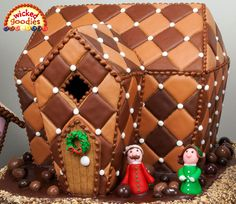 Chocolate pillow gingerbread house