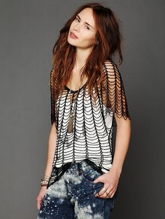 Free People Statement Beaded Top at Free People Clothing Boutique