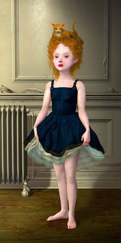 Sentinel (2006), Ray Caesar, varnished ultrachrome on panel