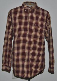 Ralph Lauren Shirt XL Button Front Red Plaid Button-Down Long Sleeve India #RalphLaurenJeansCompany #ButtonFront