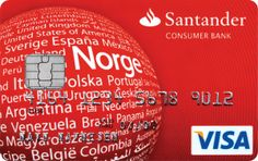 Santander Red har bla maks kreditt på 100 000, et av markedets laveste kredittkortrente, bra fordelsprogram, restaurant rabatter mm. Les mer om kortet her!