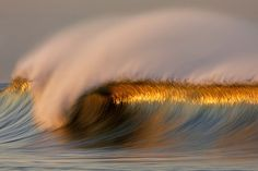 Long Exposure Photos of Golden Waves by David Orias No Wave, Water Waves, Ocean Waves, Big Waves, Ocean Beach, Photo Voyage, Waves Wallpaper, Sunset Wallpaper, Mobile Wallpaper