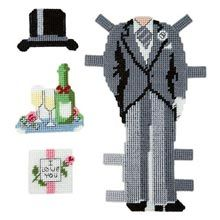 Craftways® Groom Paper Doll Outfit Kit Plastic Canvas Kit