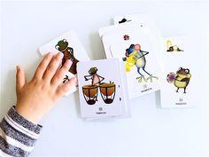 The Froggy Bands: Instruments Sounds App (Aplicación interactiva) + Memory Card Game (Naipes Instrumentos Musicales) para aprender música e inglés