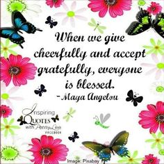 Give Maya Angelou quote via Inspiring Quotes with Penny Lee on Facebook