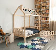 Toddler Bed FULL DOUBLE Treehouse House Children Chambre Enfant Maison Lit Unique Beds Cabane LEGS