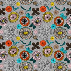 Finland Flowers pattern by Lisa Congdon